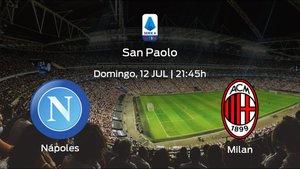 Previa del encuentro de la jornada 32: Nápoles contra AC Milan