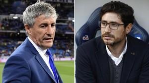 Quique Setién y Víctor Sánchez del Amo, dos técnicos cuestionados