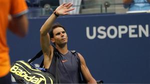 Rafa Nadal se despide del público en el US Open