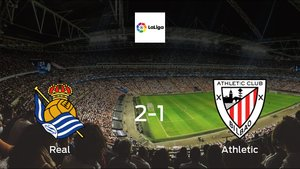 Real Sociedad earned hard-fought win over Athletic Bilbao 2-1 at Reale Arena