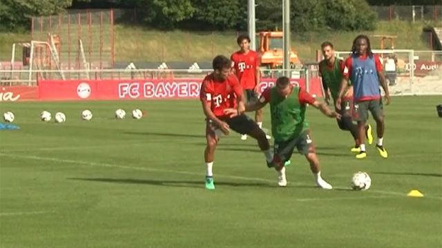 Ribery simula hasta en los entrenamientos