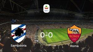 La Sampdoria y la Roma logran un punto tras empatar a cero