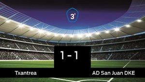 El San Juan DKE saca un punto al Txantrea en su casa 1-1