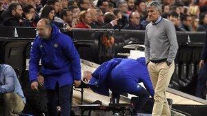 Setién se llevó una gran decepción en la última visita a Mestalla