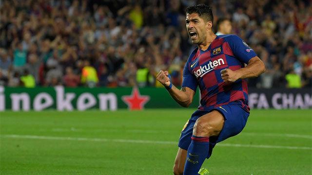 Suárez conectó una tremenda volea para empatar el partido ante el Inter