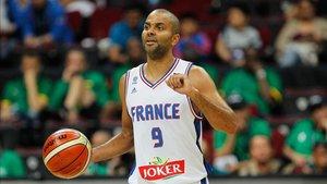 Tony Parker con la selección francesa