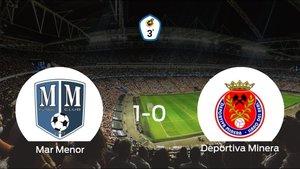 Triunfo 1-0 del Mar Menor frente a la Deportiva Minera