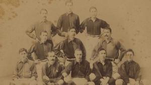 Una imagen de estudio del segundo `team¿ del FC Barcelona la temporada 1902-03