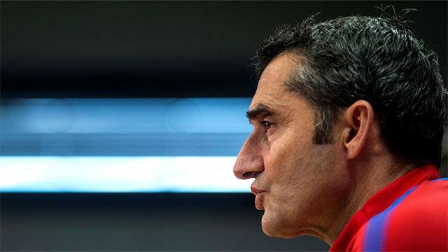 Valverde reiteró que la prioridad del Barça es ganar la liga
