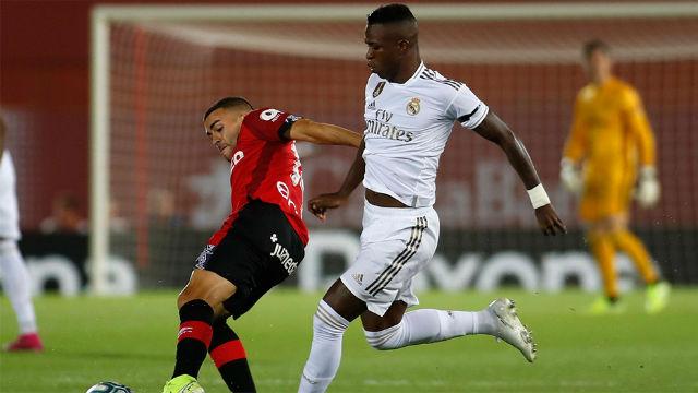 Vinicius no afinó la puntería ante el Mallorca