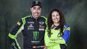 Nani Roma y Rosa Romero participan en el Dakar