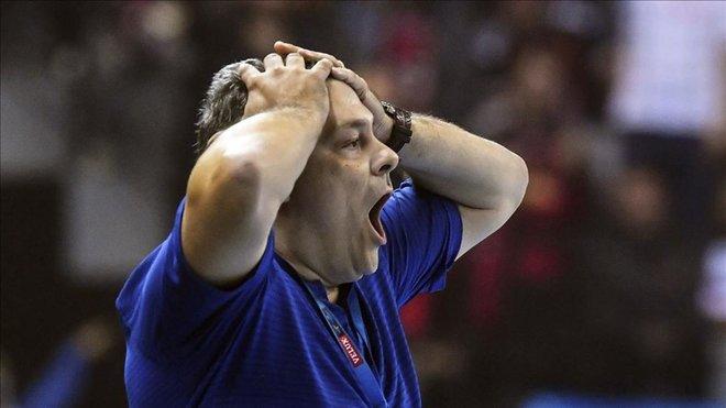 """Xavi Pascual: """"En la primera mitad nos pasaron por encima"""""""