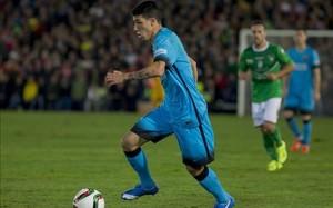 Aitor Cantalapiedra en su debut con el primer equipo, en Copa, contra el Villanovense