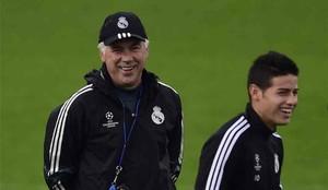 Ancelotti le dio oportunidades a James Rodríguez en el Real Madrid