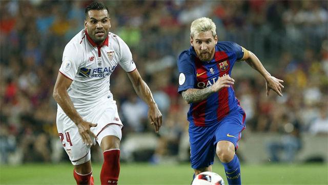 El balance de las cinco finales entre Sevilla y Barcelona