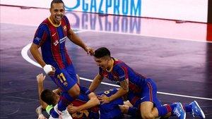 El Barça de fútbol sala conquistó la tercera Champions de la sección