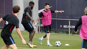 El Barcelona ha preparado esta mañana el partido