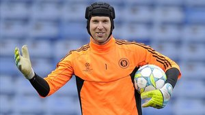 Cech durante su primer período en el Chelsea