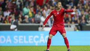 Cristiano Ronaldo se queja de una falta no señalada
