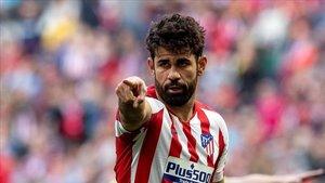 Diego Costa ya entrena con el grupo.