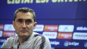 Ernesto Valverde toma la palabra