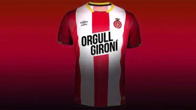 El Girona estrena lema en su camiseta