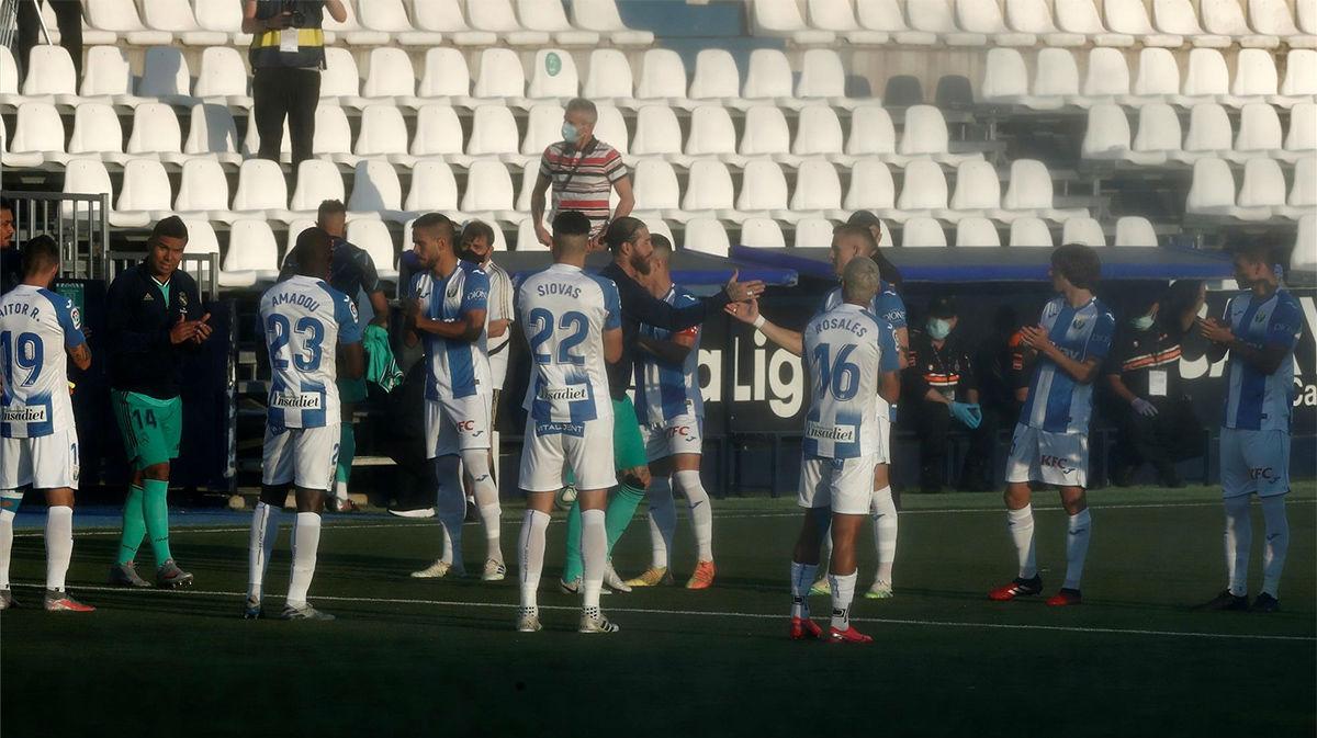 El Leganés hizo el pasillo al Real Madrid