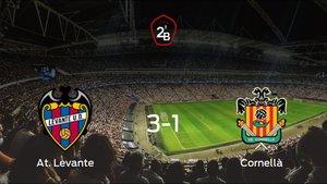 El At. Levante suma tres puntos a su casillero tras ganar al Cornellà (3-1)