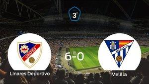 El Linares Deportivo se queda con los tres puntos frente al Melilla CD (6-0)