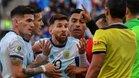 Lionel Messi fue expulsado en el partido por el tercer lugar de la Copa América