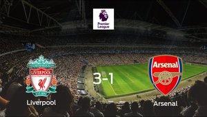 El Liverpool suma tres puntos a su casillero tras ganar al Arsenal (3-1)