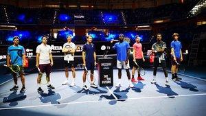 Los ocho participantes, listos para competir
