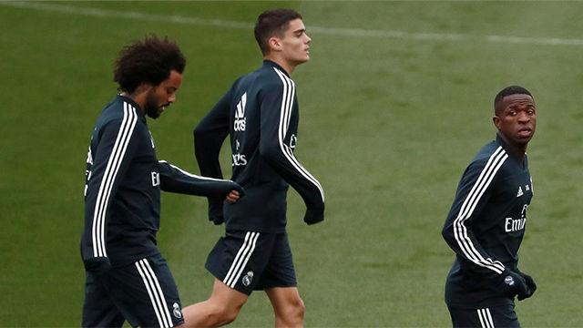 El Madrid entrenó con Vinicius, que entró en la lista de convocados