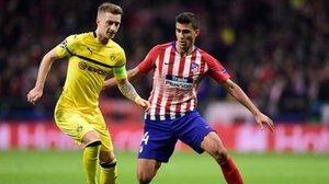 Marco Reus fue bien controlado por la estrategia del Atlético de Madrid