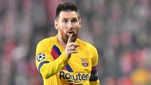 Messi marcó un gol que le valió un doble récord