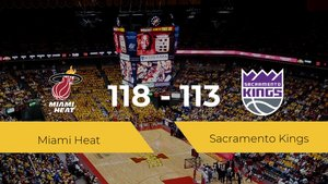 Miami Heat gana a Sacramento Kings por 118-113