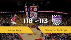 Miami Heat gana a Sacramento Kings por 118-113