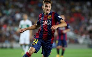 Munir El Haddadi con la camiseta del FC Barcelona