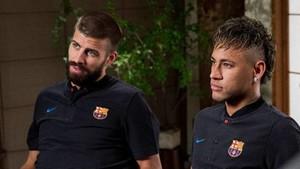 Piqué y Neymar durante su etapa en el Barça