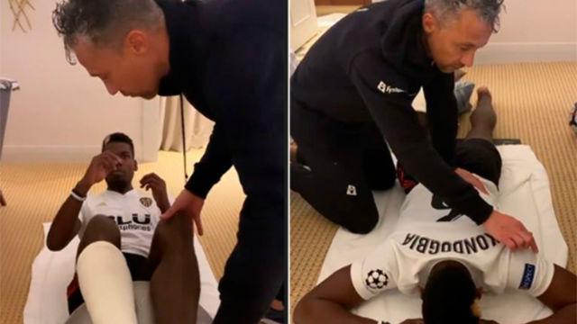 Pogba se recupera de su lesión con la camiseta del Valencia