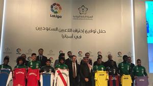 La presentación de los nueve jugadores que se incorporan a clubes de la Liga Santander y la Liga 1, 2, 3