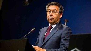 El presidente del Barcelona, Josep María Bartomeu, analizó la actualidad del Barcelona en Catalunya Ràdio