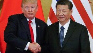El presidente de los EE. UU. Donald Trump junto al presidente chino Xi Jinping