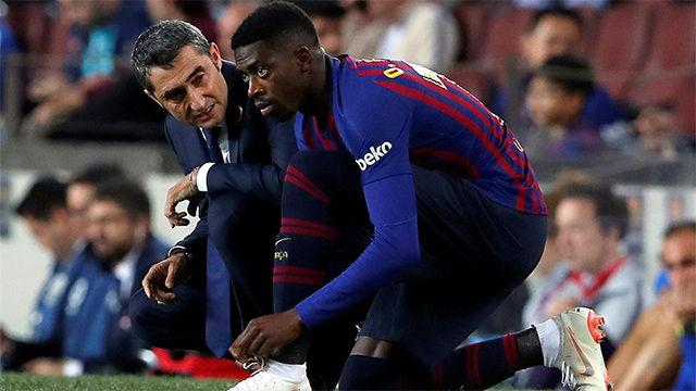 Dembélé no pasa por su mejor momento en el Barça