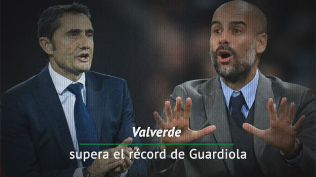 El récord con el que Valverde supera a Guardiola