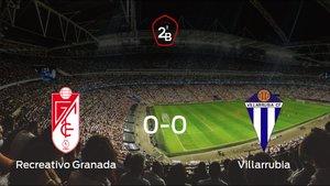 El Recreativo Granada y el Villarrubia consiguen un punto después de empatar a cero