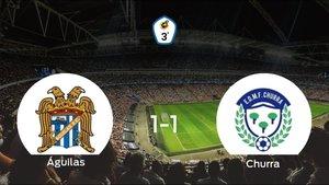 Reparto de puntos entre el Águilas y el Churra (1-1)