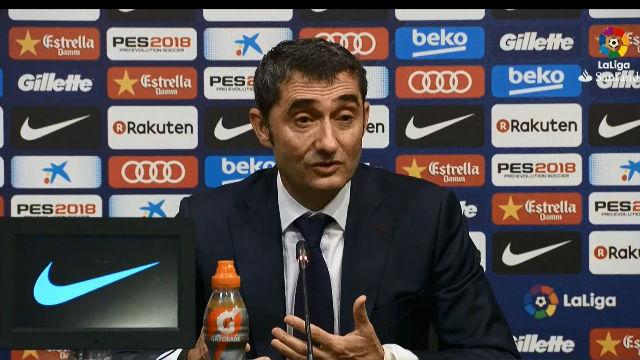 La rueda de prensa de Valverde después de ganar al Sevilla