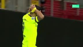 Semedo se inventó un paso mágico que Suárez desaprovechó