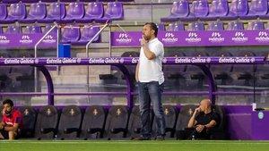 Sergio González, entrenador del Valladolid, en Zorrilla